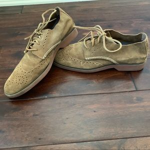 Sperry Top-Sider tan suede top stitch Oxford